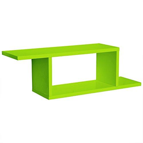 WOLTU RG9272gn Wandregal Bücherregal DIY hängend Wandkonsole, grün