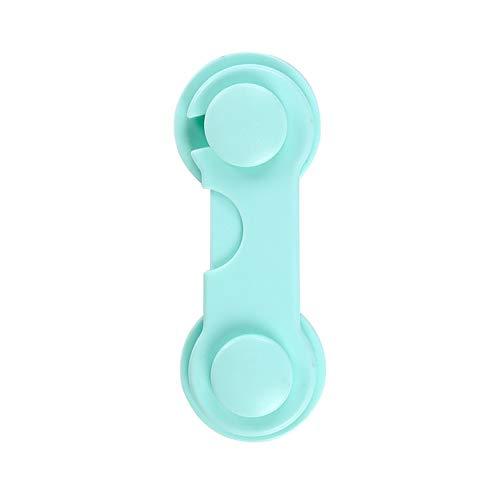 Produits Verrous de sécurité for bébés Autocollants Adhésifs Collés sur les armoires Portes de cuisine Armoires Tiroirs Réfrigérateur Placard 8Pcs (Color : Green)