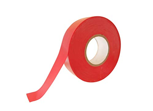 25 Meter Rolle Isolierband rot 19mmx25m (1 Rolle, rot)