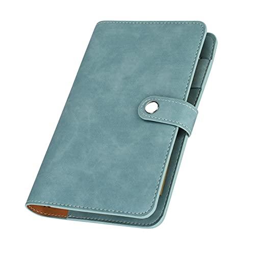Cuaderno A6, a rayas, bloc de notas un solo color, tapa dura, portalápices, rellenable, cuaderno viaje, grueso escritura para memos planificadores, oficina