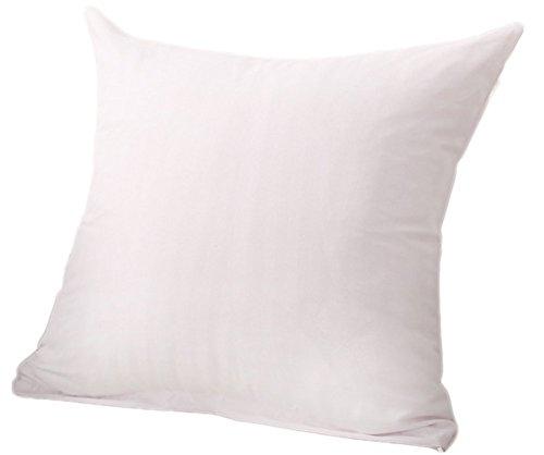 DaoRier chimique Fibre Taie d'oreiller Coque élégant doux Uni Couleur unie Housse de coussin pour canapé 45*45 cm Décoration pour maison Voiture Bureau – sans insert – Blanc