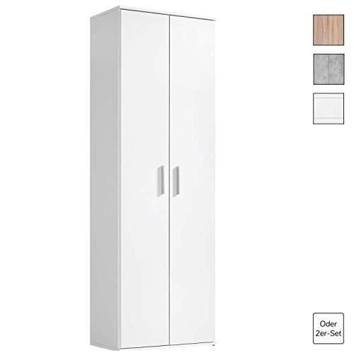 mokebo® Mehrzweckschrank 'Der Lange', moderner Aktenschrank oder Schrank, Made in Germany & klimaneutraler Versand, Weiß -11