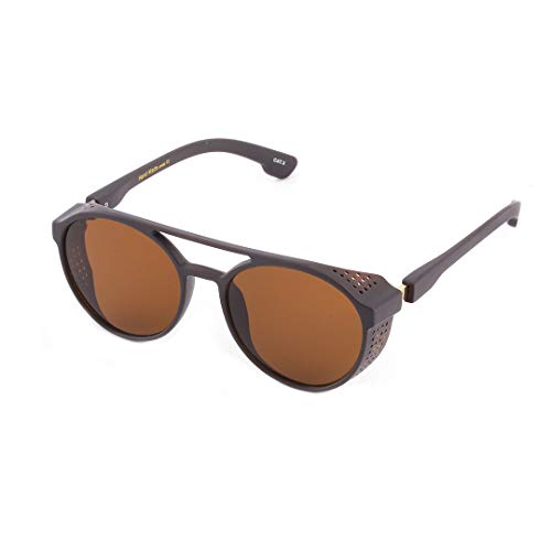 Vintage Steampunk Sunglasses with Side Shields Men Women Brand Sun Glasses Shades