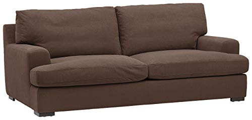 Amazon Brand – Stone & Beam Lauren Down-Filled Oversized Sofa Couch with Hardwood Frame, 89'W, Chocolate
