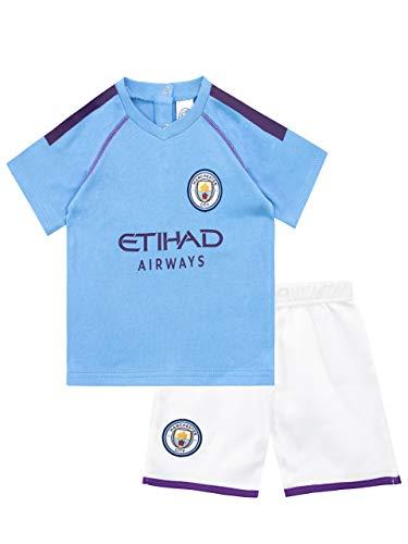 Manchester City FC Pijama Entera para Niños Bebés Azul 9-12 Meses