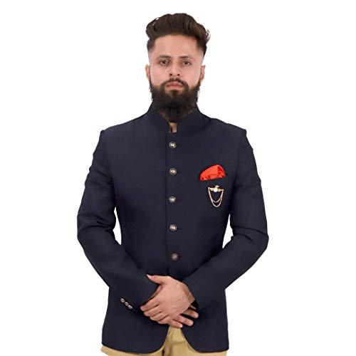 Dhingra Men's Regular Fit Bandhgala Jodhpuri Style Blazer