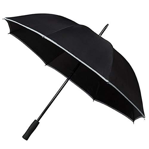 Impliva GP-60 Falcone paraplu, complete afmeting, paraplu, rond, zwart, glasvezel, polyester