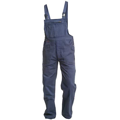 Charlie Barato® Herren Arbeitshose blau - waschfeste Latzhose hydronblau - robuste Arbeitslatzhose (64)