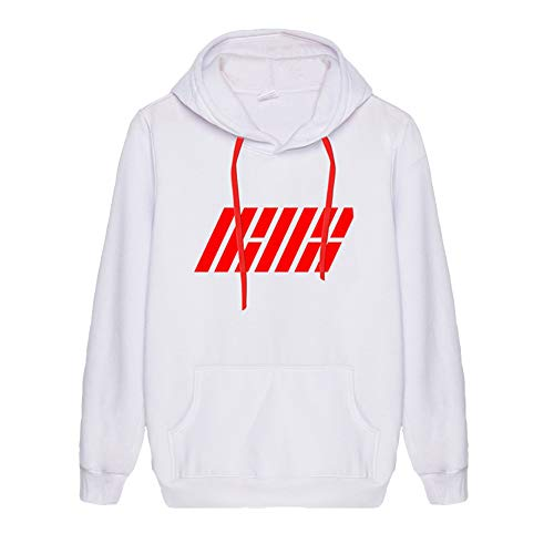 IKON Pullover Fashion Simple Sweatshirt Personalized Print Top Pullover di Base Unisex (Color : A01, Size : XXL)
