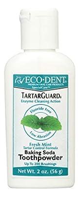 Eco-Dent TartarGuard Baking Soda Toothpowder, Fresh Mint 2 oz