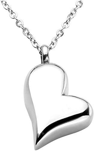 Damenmode Halskette Kostenlose Gravur - besonders angefertigt Twisted Edelstahl-Herz Halskette Cremated Asche Urne Schmuck Andenken die Stopfbuchse und Geschenk-Boxen, Farbe zu gedenken: Nicht-gravier