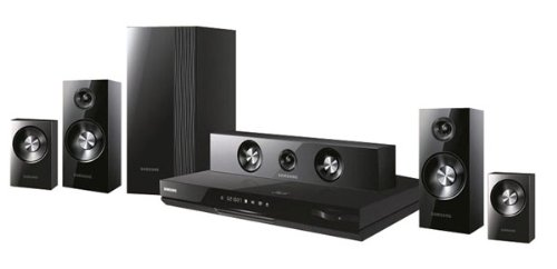 Samsung HT-D5500 - Equipo de Home Cinema (Reproductor de Blu-Ray, CD, CD-R, CD-RW, DVD, DVD+R, DVD+RW, DVD-R, DVD-RW, Ranura, AVCHD, DIVX, MKV, WMV, 1000W, 5.1) Negro