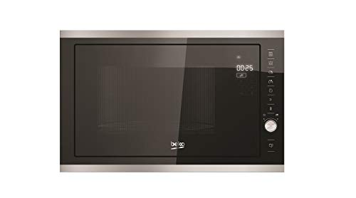 Micro ondes Grill Encastrable Beko MGB25333X - Micro-Ondes + Grill Integrable Noir et inox - 25 litres - 900 W