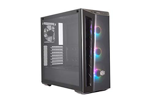 Cooler Master MasterBox MB520 ARGB - ATX-PC-Gehäuse mit getönter Frontplatte, 3 x 120 mm vorinstallierten Lüftern, Glasseitenwand, flexiblen Luftstromkonfigurationen