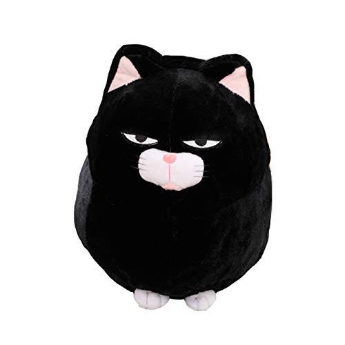 AIXINI ひげまんじゅう あんこぬいぐるみ 黒豆 みーさま 40cm まねっこトコトコ ねこぬいぐるみ 動物 子供 誕生日 お祝い(黒)