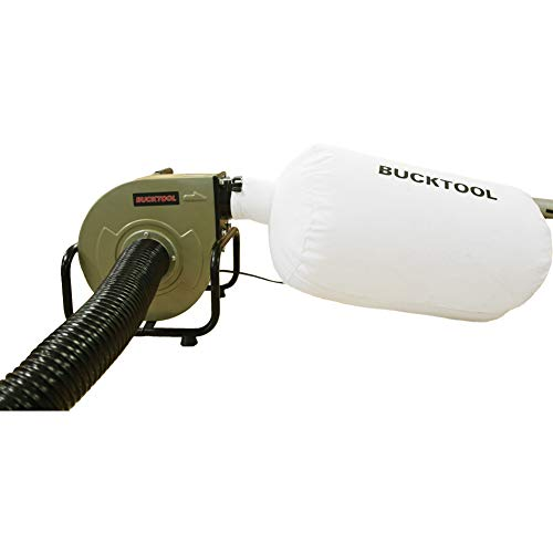 BUCKTOOL 1HP 6.5AMP Wall-mount Dust Collector Home Portable 13 Gal with Dust Bag DC-A
