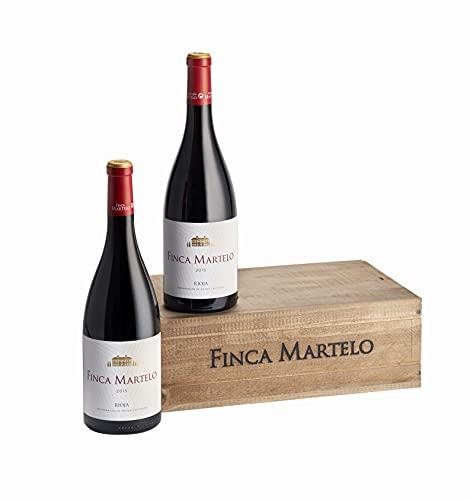 Finca Martelo - Vino Tinto Reserva 2015 D.O Rioja Rioja Alavesa | Tempranillo, Mazuelo, Garnacha y Viura | Pack Estuche 2 Botellas 75 cl