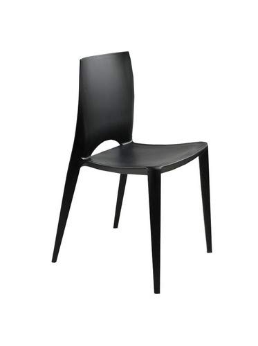 Stones Denise Set di 4 sedie, Polipropilene, Nero, 44x41x84 cm, 4 unità