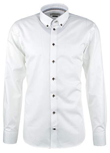 Bugatti Herren Oxford Hemd weiß, Größe:XXL