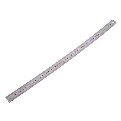 Ocobudbxw 50cm 20 '' Regla de medición de Regla Recta de Acero Inoxidable con Escala de Doble Cara
