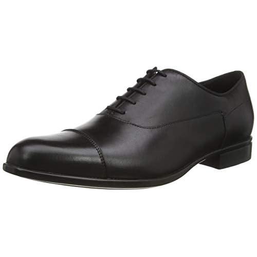 Geox U IACOPO B, Scarpe Stringate Oxford Uomo, Nero (Black C9999), 39 EU
