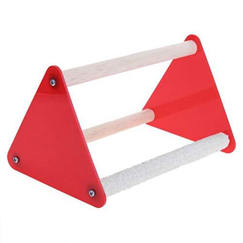 dfsa huisdier speelgoed Papegaai Stand Grinder Klauw Rubber Vogel Speelgoed Driehoek Ladder Acryl Huisdier Speelgoed