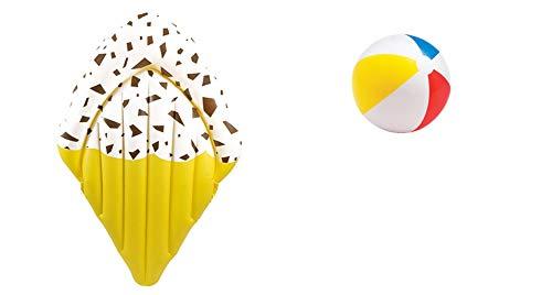 Luftmatratze aufblasbar Matratze aufblasbares Eis Ice-Cream Stracciatella Schwimminsel Badematratze Badeinsel Wasserspielzeug für Pool Wasser Camping Kinder Erwachsene Lustig Witzig Cool