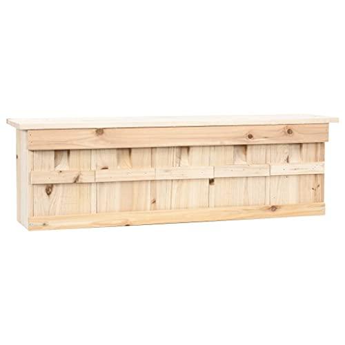 HUANGFINPI Material: Madera de Abeto Casa para gorriones 5 Habitaciones Madera de Abeto 68x15x21 cm