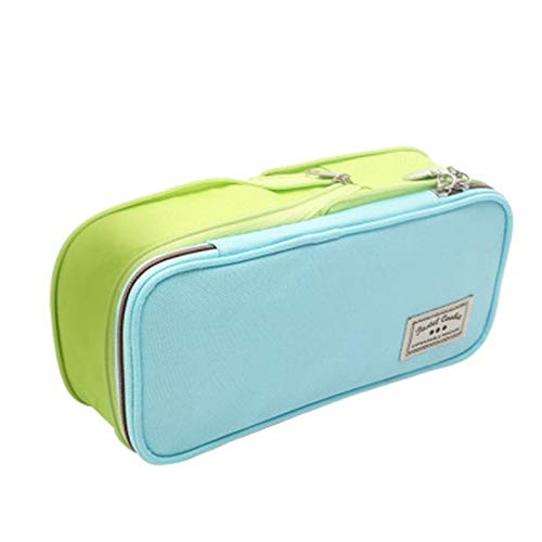 Zhicaikeji Estuche Bolsas de Pluma Escolar Bolsas de Pluma de Gran Capacidad Caja de Cortina Box Suministros Escolares para Oficina (Color : Verde, Size : One Size)