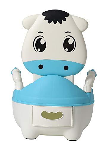 Orinales Infantiles Water para Ninos Ninas Inodoro WC Bebe con Tapa Aprendizaje Pantorrilla Azul