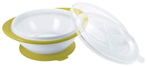 NUK Easy Learning Esslernschale für Kinder ab 6 Monaten mit Saugnapf, zwei Deckel, BPA frei, Violett