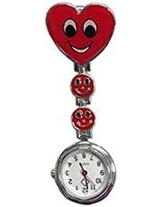 Sorriso Dell'infermiera Del Fronte Della Vigilanza Di Modo Delle Signore Del Cuore Rosso Spilla Igienico Ciondolo Protezione Creativa Medical Tasca Fibbia Dell'orologio Red Casa E Giardino Utilità