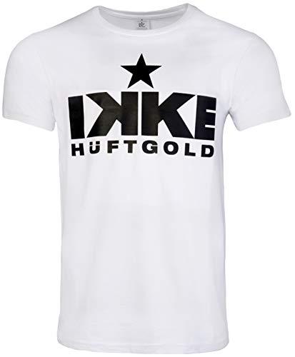Summerfield Original Fanshirt Ikke Hüftgold für Malle oder Bulle Party (weiß, XL)
