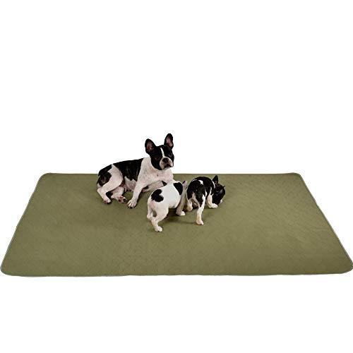 Millie Mats Waschbare Hundeunterlagen für Welpen, inkontinente und ältere Hunde, auslaufsicher, um den Boden zu schützen. Für Wurf-, Reise- oder Töpfchenunterlage, Größe 111,8 x 160 cm
