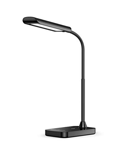 TaoTronics LED Desk Lamp, TT-DL11 Flexible Gooseneck Table Lamp,5 Color Temperatures with 7 Brightness Levels,USB Charging Port, Memory Function,7W,Official Member of Philips EnabLED Licensing Program