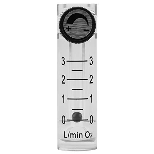 Caudalímetro de gas, caudalímetro LZQ-2 0-3LPM Caudalímetro con válvula de control para oxígeno/aire/gas