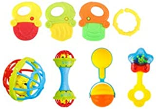 Anniston Kids Toys, 7/8/10Pcs Baby Rattles Toys Teether Shakers Newborn Toddler Hand Grip Bells Baby Toys Perfect Fun Time...