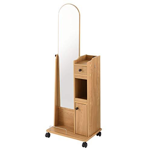 ぼん家具ドレッサー化粧台鏡台全身鏡収納キャスター姿見スタンドミラー木製ナチュラル