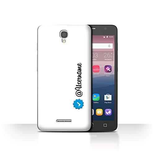 Var voor Custom Social Media IG ALC-CC Alcatel Pop Star 3G Geverifieerde gebruikersnaam wit