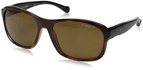 Arnette Uncorked - Gafa de sol rectangular color marrón con lentes color marrón polarizadas, 59 mm
