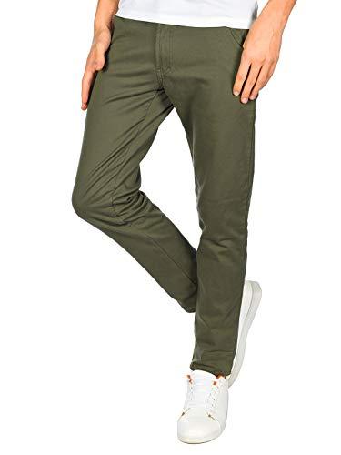 BEZLIT Jungen Thermo Chino Jeans Hose Gefüttert 22879 Olivegrün 164
