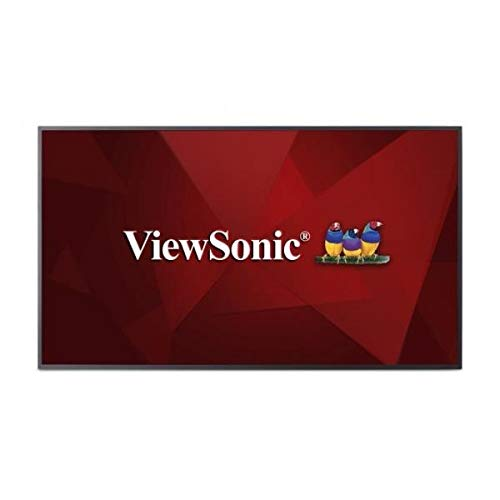 ViewSonic CDE6510 65 Inch 4K UHD Commercial Display with 8GB Multi-Core CPU Android SOC Embedded LAN OPS Slot Internal OSB and RS232