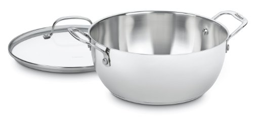 Cuisinart Chef's Classic Stainless 5-1/2-Quart Multi-Purpose Pot with Glass Cover