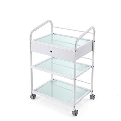 Hulpmiddel, medische schoonheid Trolley drie verdiepingen gehard glas multifunctionele montage hulpmiddel, belasting 200 Kg Without drawers
