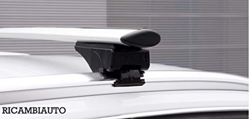 RICAMBIAUTO Barras portaequipajes de Aluminio para Fiat 500X SUV (15>) con rieles Cerrados
