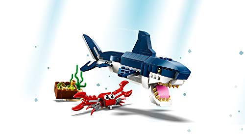 Product Image 3: LEGO Creator 3in1 Deep Sea Creatures 31088 Make a Shark, Squid, Angler Fish, and Crab with this Sea Animal Toy Building Kit (230 Pieces)