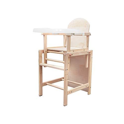 YQQ Chaise Bébé Chaises Pliantes Chaise Multifonction pour Enfants Siège en Bois Massif Hauteur Réglable Table De Bébé (Couleur : No Pad)
