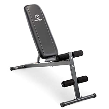 Marcy Exercise Utility Bench for Upright Incline Decline and Flat Exercise SB-261W  Black 42.00 x 19.00 x 51.00 inches
