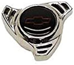 Eckler's Premier Quality Products 50340566 Chevelle Air Cleaner Cover Wing Nut Spinner Shape Small Bowtie Logo Chrome