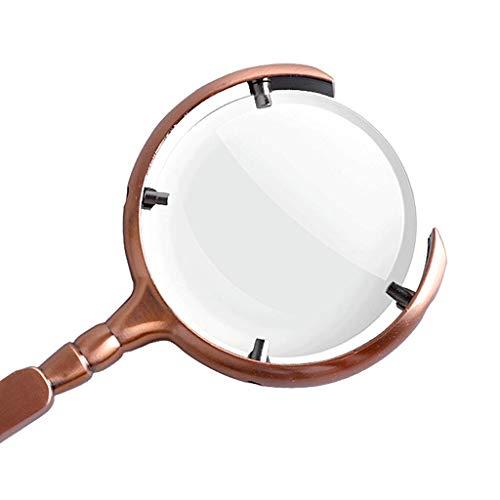 XXY Lupe Delicate Einzigartige Formlupe Überzogene Bronzerahmenlupe Optische Lupe aus blauem Film